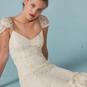 Reformation seleste wedding dress